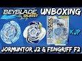 Jormuntor J2 & Fengriff F2 Dual Pack (Beyblade Burst Unboxing, QR Codes, and Test!)