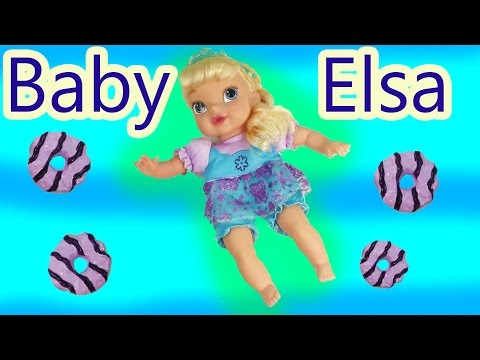 Disney Frozen Baby Elsa Doll Eating Play Doh Cookies Inspired ...