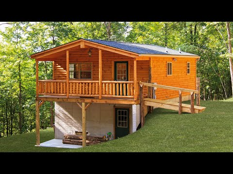 24x24 Two Story Modular Cabin How To Save Money And Do