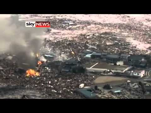 Sky News reporting on the Tsunami that hit Japan