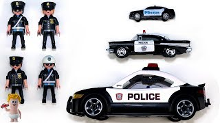 Learn Sizes Colors & Numbers w/Playmobil Police Cars Vehicles Toys for Kids