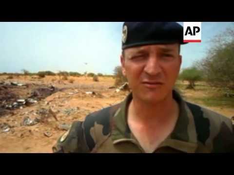 Debris strewn across site of crashed Air Algerie plane