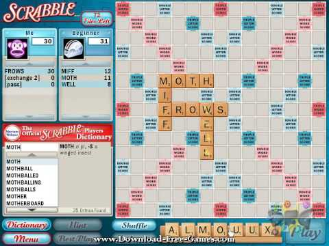 computer scrabble game