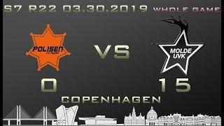 Euroleague 7th season WHOLE GAME Polisen DK - Molde UVK 0-15 (0-7)