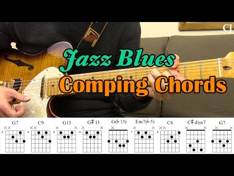 Jazz Blues Comping Chords (With Chord Boxes) - Guitar Lesson ...