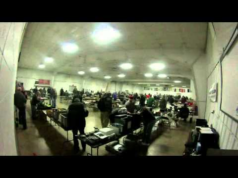 Tri County Amateur Radio Club Hamfest 03-17-2013 Timelapse Video