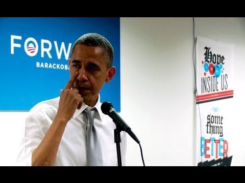 Emotional Obama Cries Thanking Campaign Staff