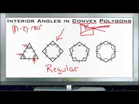 Interior Angles in Convex Polygons Principles - Basic