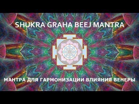 Мантра для гармонизации влияния Венеры.  ШУКРА ГРАХА  БИДЖ МАНТРА.