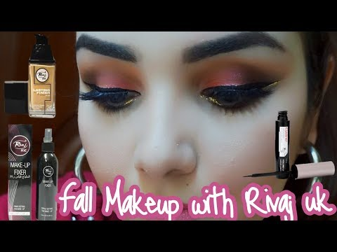 Fall Makeup using only Rivaj UK makeup     One brand makeup super affordable