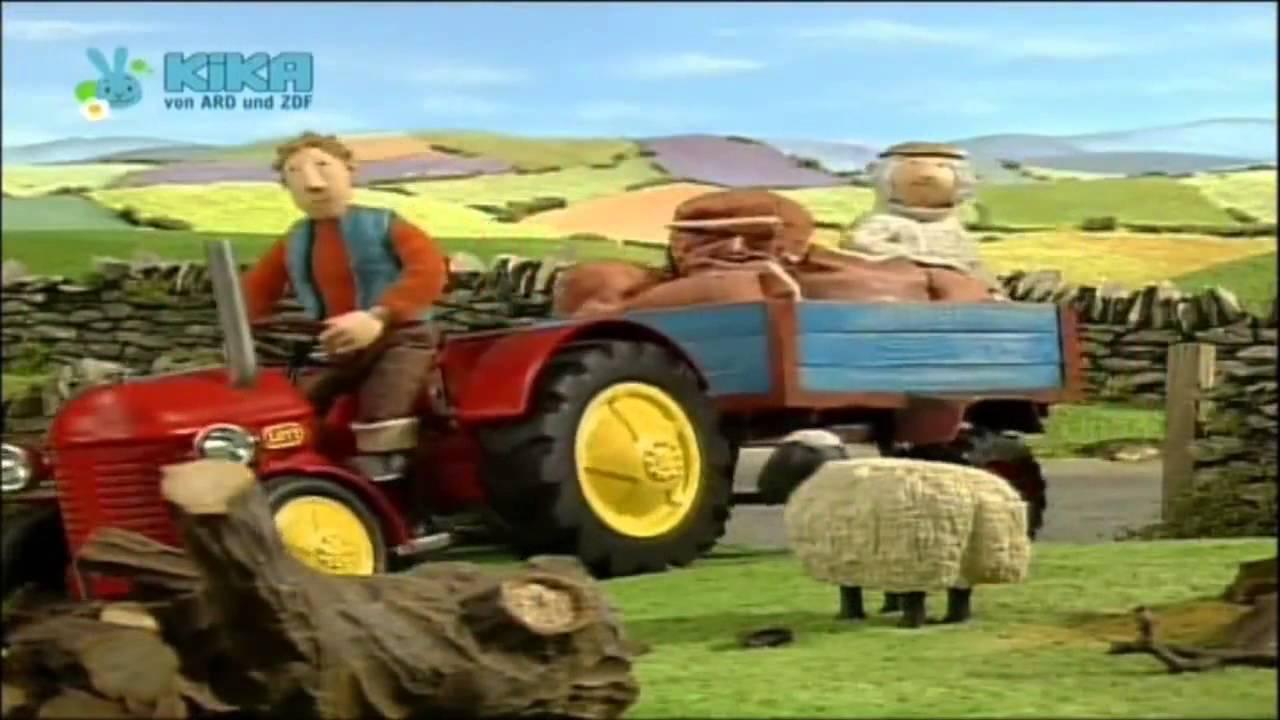kleiner roter traktor beeren pflückenjan kann allesflieg