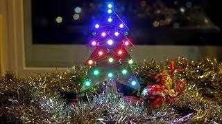 Árbol de Navidad Shield  para Arduino con led RGB WS2812 - Xmas Tree