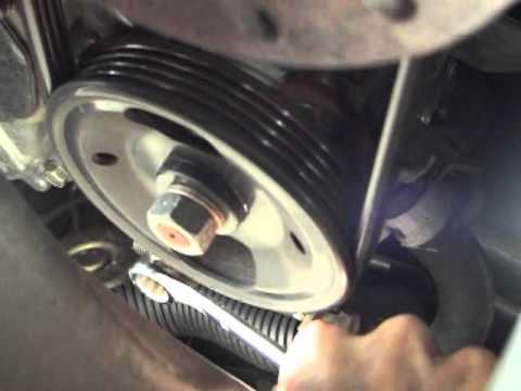 Changing Drive Belts on    Nissan    Quest 2006  YouTube