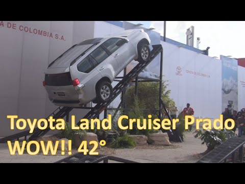 Test Drive Toyota Land Cruiser Prado Climbing 42 degrees.