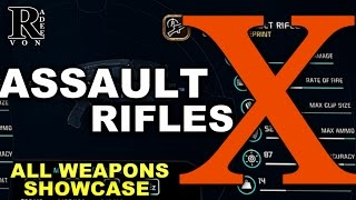Mass Effect Andromeda - All Assault Rifles X Guide with Showcase (Research Weapon)