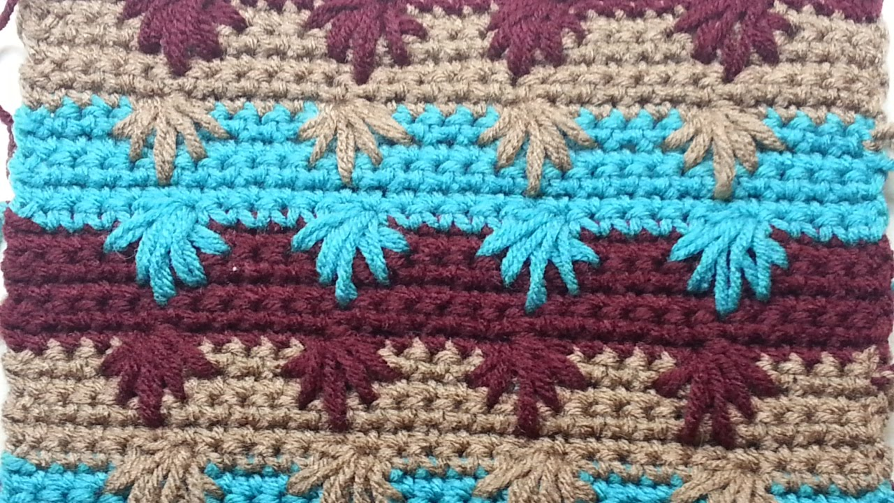 Learn To Crochet The Puff Spike Stitch Tutorial Youtube