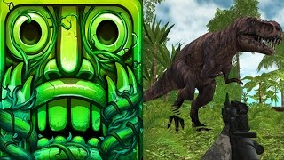Temple Run 2 Sky Summit VS Dinosaur Hunter Survival Game Android iPad iOS Gameplay HD