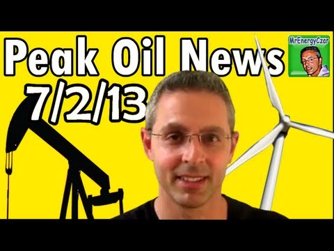 Peak Oil News 7/2/13 Honda's EV, Wireless Car Charging, Peak Oil Resort, Wind Powered Car.