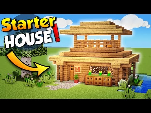 Minecraft: Starter House Tutorial - How to Build a House in Minecraft - Easy