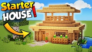 Minecraft: Easy Starter House Tutorial - How to Build a House in Minecraft