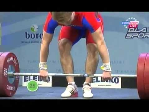 Men 85kg clean & jerk European Weightlifting Championships Tirana 2013