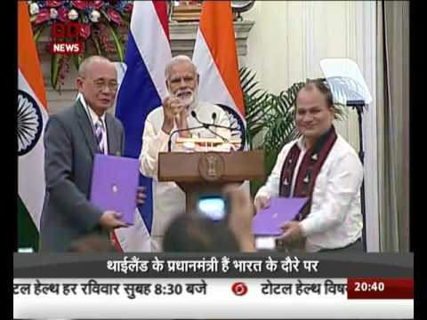 Several MoUs signed between the India and Thailand