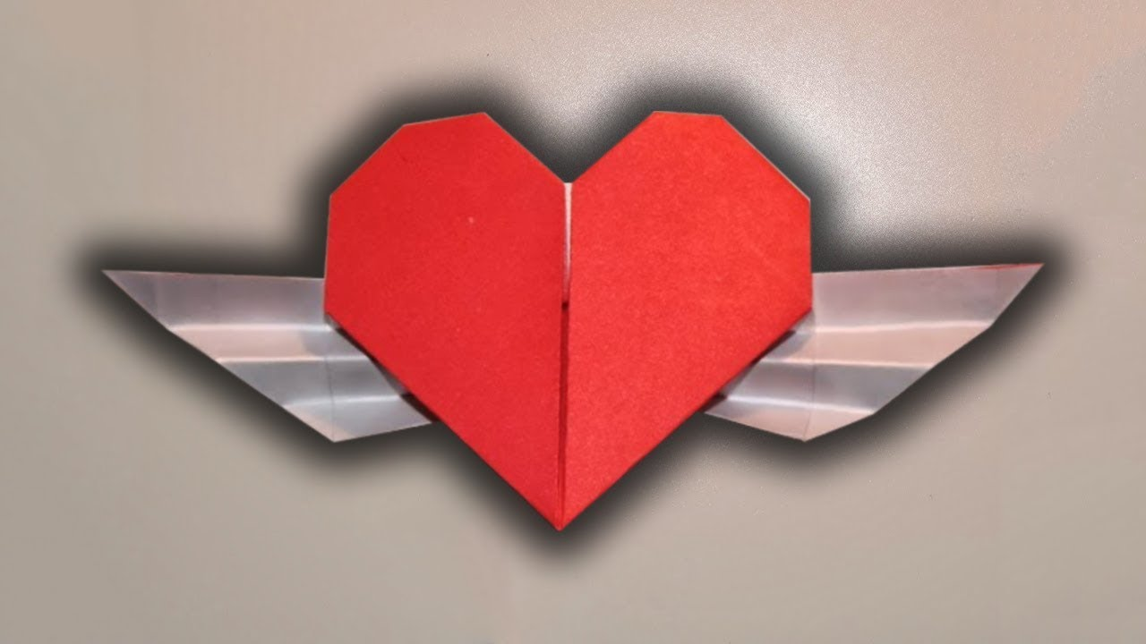 Bat Heart Origami Origami Winged Heart