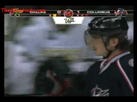 Nikolai Zherdev (CBJ) vs. Marty Turco (DAL) Shootout December 3, 2007 Video