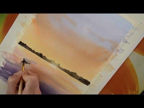 Мастер класс #6 Картина акварелью. Яхты.