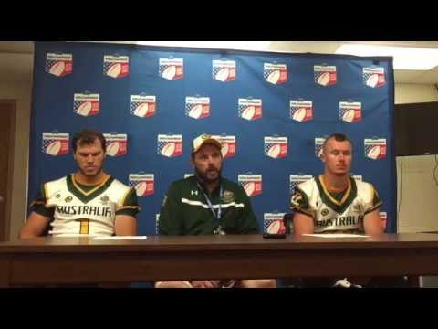 2015 IFAF WC Post-Game Press Conference: France 53 Australia 3 - Australia.