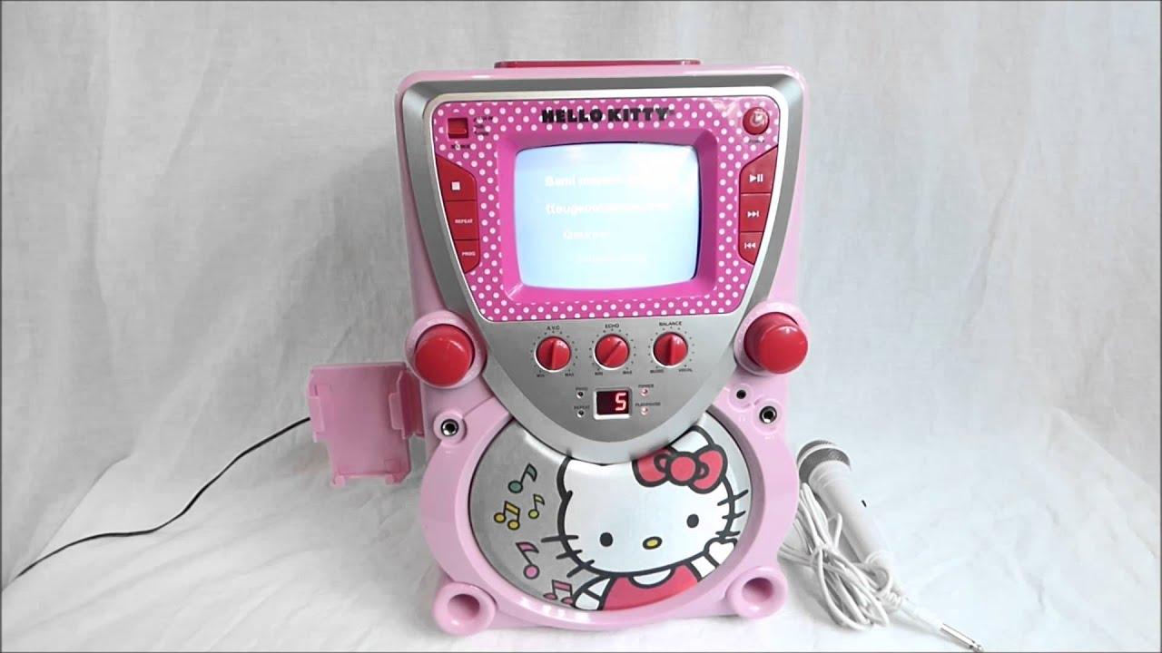 Hello Kitty Karaoke Machine With Screen Hello Kitty Karaoke Machine
