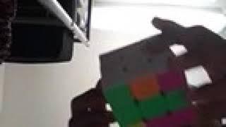 Solving white side of the Rubik's cube