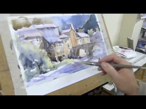 Como pintar acuarela paso a paso. Watercolor demo. Watercolor turorial.
