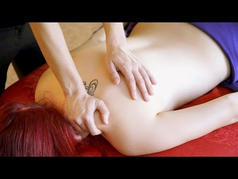 50 Back Massage Therapy Techniques Part 3 - How to Massage ASMR Soft Spoken Relaxing Music