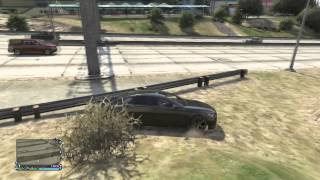 GTA 5 Amazing stunt through TV sign