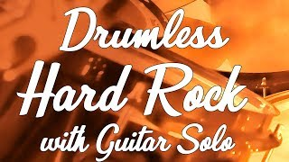 Hard Rock Drumless Backing Track | 132 BPM with Click-Guitar Solo | Real Professional musicians
