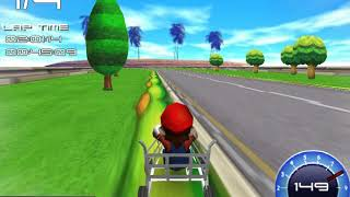 Super Mario Kart, but with common supermarket vehicles.