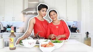 "Cooking with my MOM! "" Episode 2 Pinakbet"