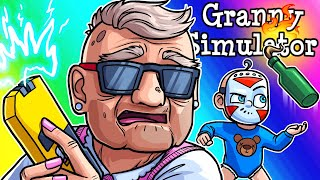 Granny Simulator Funny Moments - Todlerious Vs. Two Grannies!