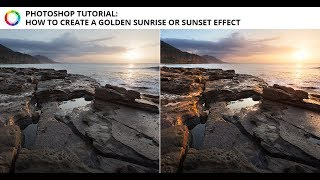 Photoshop Tutorial -How to add a warm glow to a sunrise or sunset image