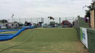 B6 Buggy slow motion rc car jump