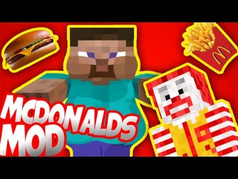 Minecraft Mod Showcase: McDonalds Mod - Cheeseburgers, McFlurrys, Big Macs & More