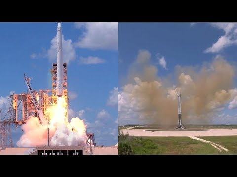 SpaceX CRS-12: Falcon 9 launch & landing, 14 August 2017