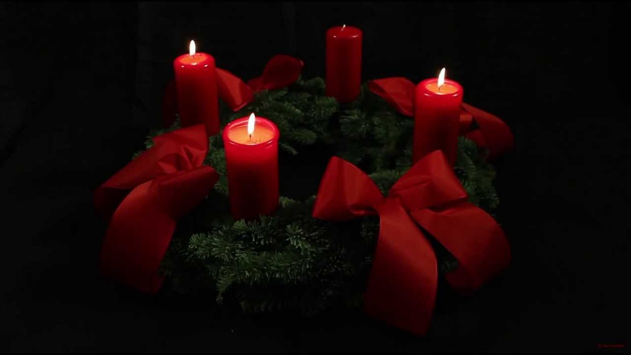 3rd Advent Wreath - German Adventskranz - with three candles lit for ...