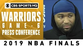 Golden State Warriors Game 6 Press Conference | 2019 NBA FInals | CBS Sports HQ