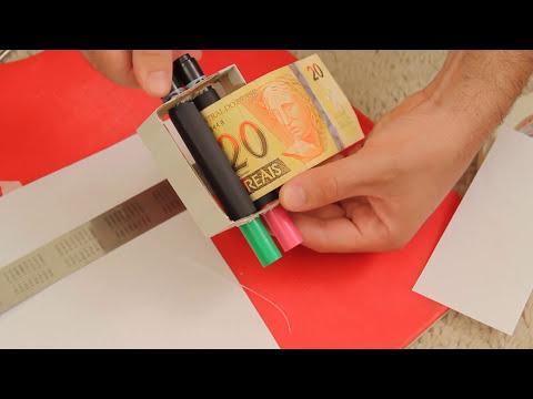 Revelação da mágica: como imprimir dinheiro em casa