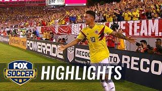 James Rodriguez curls in a beautiful goal vs. the USMNT | 2018 International Friendly Highlights