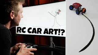 IT WORKED!! I Painted a Picture with a Remote-Controlled CAR!