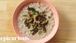 How to Make Risotto with Mushrooms and Leeks | Epicurious
