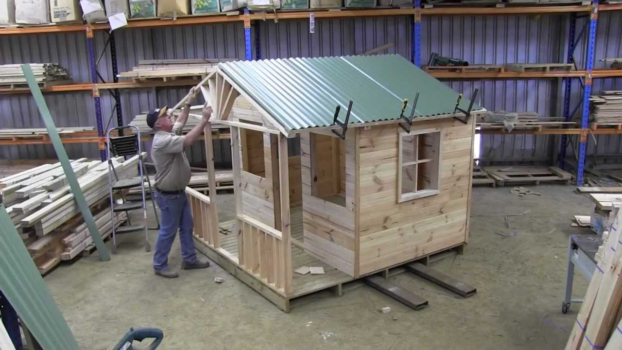 How to build a cubby house roof part 1 youtube for Build a house kits